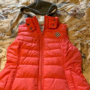 Hollister puffer vest with hood.  Size Lg